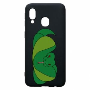 Phone case for Samsung A40 Green snake