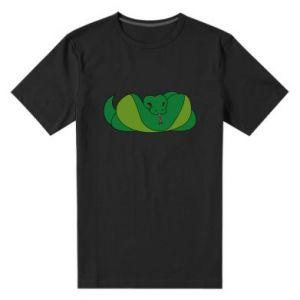 Męska premium koszulka Green snake - PrintSalon