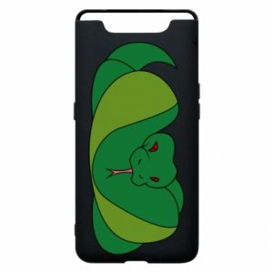 Phone case for Samsung A80 Green snake