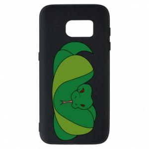 Etui na Samsung S7 Green snake