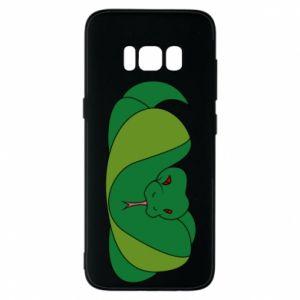 Etui na Samsung S8 Green snake