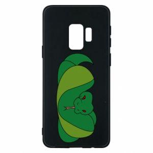 Etui na Samsung S9 Green snake