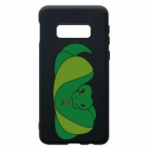 Etui na Samsung S10e Green snake