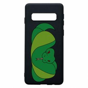Etui na Samsung S10 Green snake