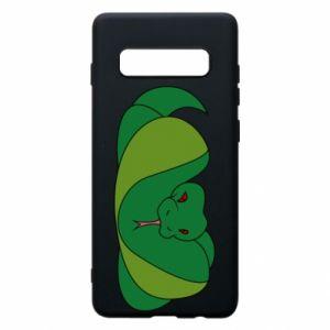 Etui na Samsung S10+ Green snake