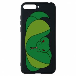Phone case for Huawei Y6 2018 Green snake