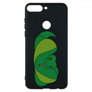 Phone case for Huawei Y7 Prime 2018 Green snake