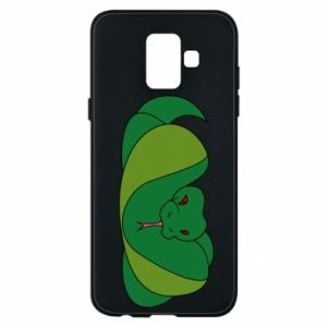 Phone case for Samsung A6 2018 Green snake