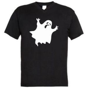 Men's V-neck t-shirt Grimace of horror - PrintSalon