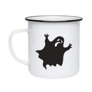Enameled mug Grimace of horror - PrintSalon