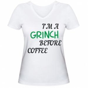 Damska koszulka V-neck GRINCH
