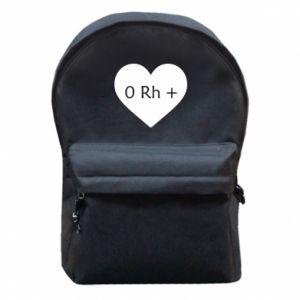 Plecak z przednią kieszenią Grupa krwi  0+