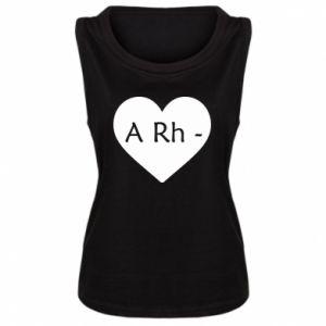 Damska koszulka bez rękawów Grupa krwi  A-