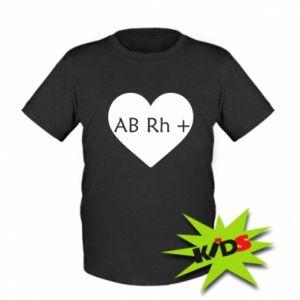 Dziecięcy T-shirt Grupa krwi AB+