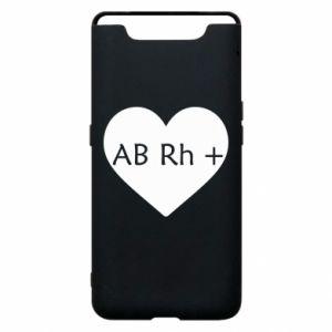 Etui na Samsung A80 Grupa krwi AB+