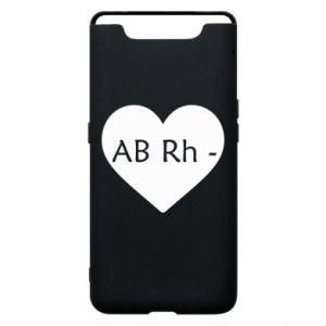 Etui na Samsung A80 Grupa krwi AB-