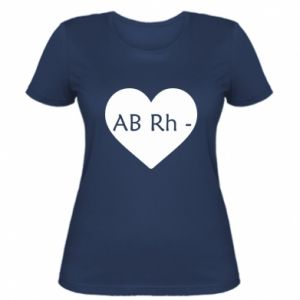 Damska koszulka Grupa krwi AB-