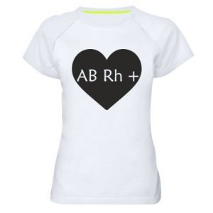Damska koszulka sportowa Grupa krwi AB+
