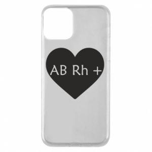 Etui na iPhone 11 Grupa krwi AB+