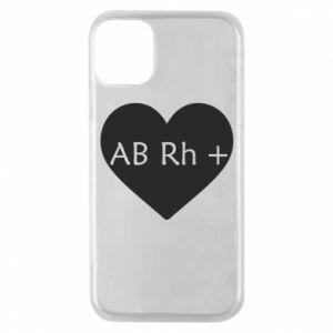 Etui na iPhone 11 Pro Grupa krwi AB+