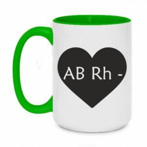 Kubek dwukolorowy 450ml Grupa krwi AB-