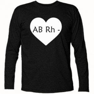 Koszulka z długim rękawem Grupa krwi AB-