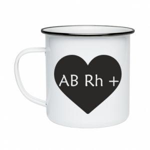 Kubek emaliowane Grupa krwi AB+