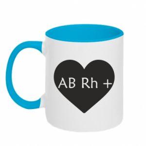 Kubek dwukolorowy Grupa krwi AB+
