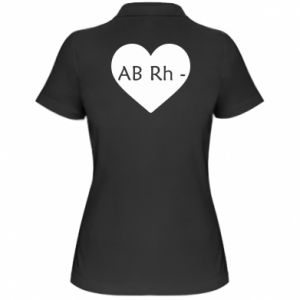 Damska koszulka polo Grupa krwi AB-