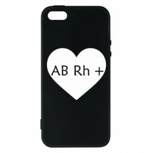 Etui na iPhone 5/5S/SE Grupa krwi AB+