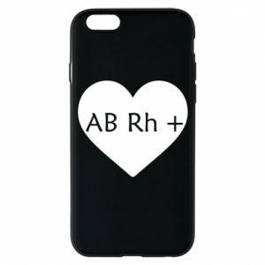 Etui na iPhone 6/6S Grupa krwi AB+