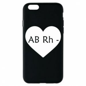 Etui na iPhone 6/6S Grupa krwi AB-