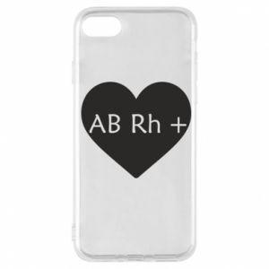 Etui na iPhone 7 Grupa krwi AB+
