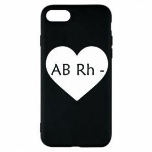 Etui na iPhone 7 Grupa krwi AB-