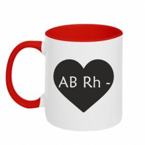 Kubek dwukolorowy Grupa krwi AB-