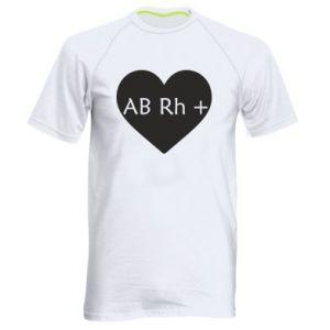 Męska koszulka sportowa Grupa krwi AB+