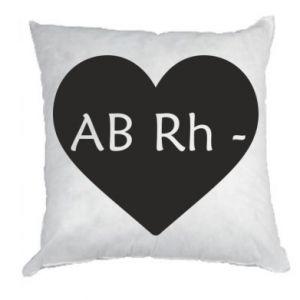 Poduszka Grupa krwi AB-