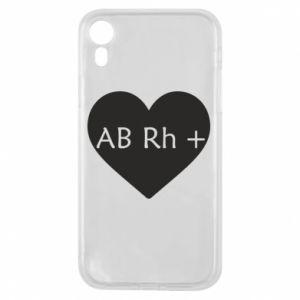 Etui na iPhone XR Grupa krwi AB+