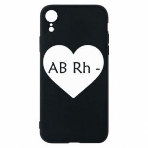 Etui na iPhone XR Grupa krwi AB-