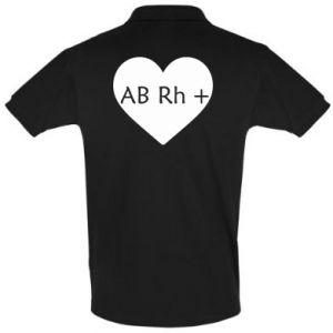 Koszulka Polo Grupa krwi AB+