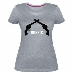 Damska premium koszulka Gun Bonnie