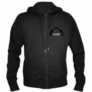 Men's zip up hoodie Gun Clyde - PrintSalon