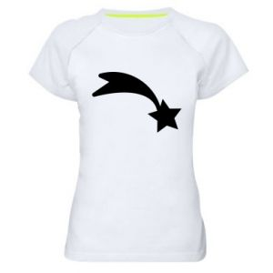 Damska koszulka sportowa Spadająca gwiazda