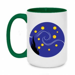 Two-toned mug 450ml Van Gogh's Starry Night