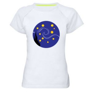 Women's sports t-shirt Van Gogh's Starry Night