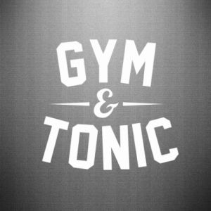 Naklejka Gym and tonic