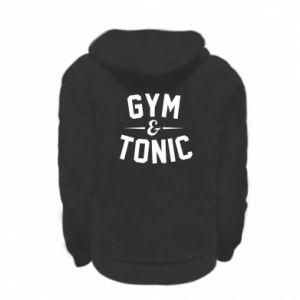 Kid's zipped hoodie % print% Gym and tonic
