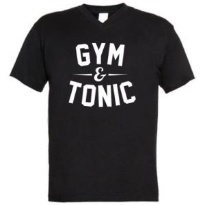 Męska koszulka V-neck Gym and tonic