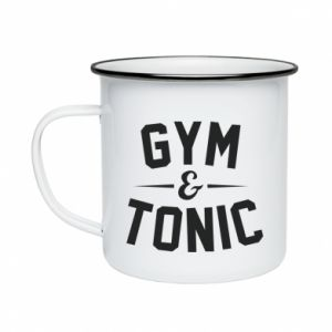 Kubek emaliowane Gym and tonic