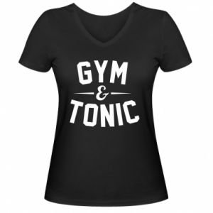 Damska koszulka V-neck Gym and tonic